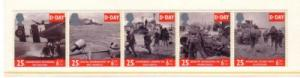 Great Britain Sc 1567a 1994 D Day Landings stamp strip mint NH