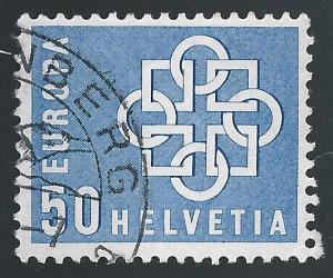 Switzerland #375 50c Europa - Chain, Symbol of The Union