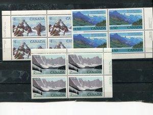 Canada #934-36iv  Plate blocks  with var  Mint VF NH     - Lakeshore Philatelics