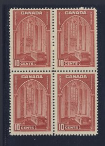 4x Canada Stamps #241a-10c Block of 4 2xMNH 2xMH VF Guide Value = $50.00
