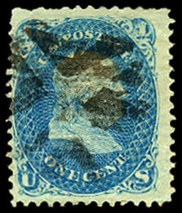 U.S. 1867 GRILLED ISSUES 92  Used (ID # 39744)