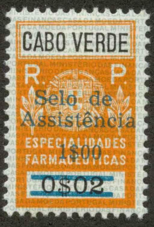 Cape Verde RA20 Mint VF H