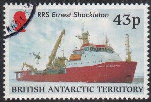 British Antarctic Territory 2000 used Sc #292 43p RRS Ernest Shackleton