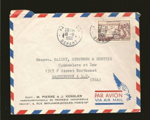France 908 on PM 1960 Airmail Cover to USA Used
