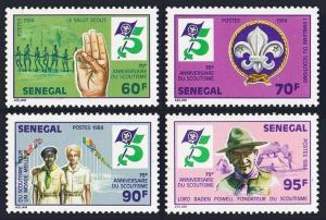 Senegal 613-616,MNH.Michel 813-816. Scouting Year 1984.Sign,Scouts,Baden-Powell.