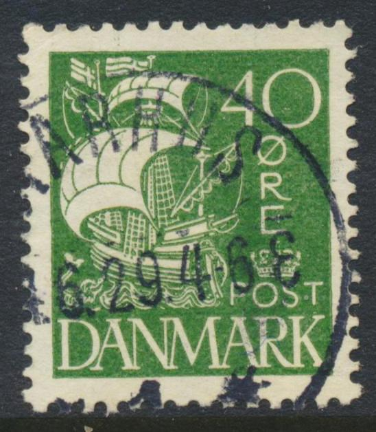 Denmark Scott 197 (AFA 174), 40ø Caravel type, VF-XF Used