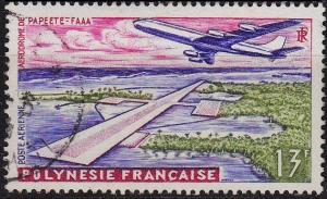 POLYNESIE FRANCAISE [1960] MiNr 0019 ( O/used ) Flugzeuge