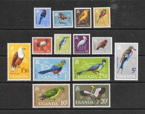 BIRDS - UGANDA #97-110  MNH