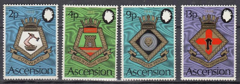 Ascension - 1973 Naval Arms Sc# 166/169 - MNH (528)