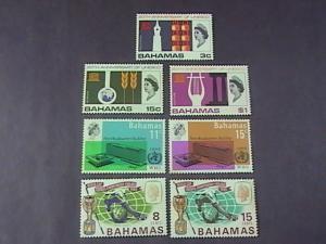 BAHAMAS  # 245-251-MINT/NEVER HINGED--3 COMPLETE SETS----QEII----1966