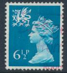 Great Britain Wales  SG W22 SC# WMMH7 Used  see scan 1 center band
