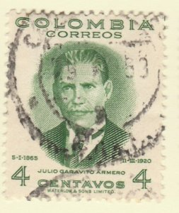 Colombia 1949 4c Fine Used A8P55F113