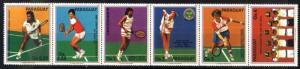 PARAGUAY 1986 ,SPORTS TENNIS PLAYERS, Mi 4029-34,MNH