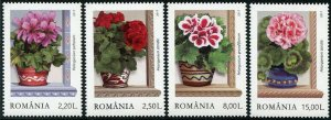 HERRICKSTAMP NEW ISSUES ROMANIA Sc.# 6025-28 Geraniums