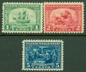 EDW1949SELL : USA 1920 Scott #548-50 Very Fine-Extra Fine, Mint NH. Catalog $97.