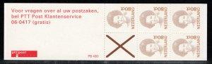 Netherlands Scott # 774Ab, mint nh, cpl. stamp booklet,  se-tenant