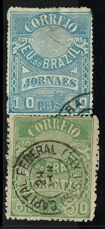 Brazil SC# P22 & P24, Used, P22, creased, both with pinholes - Lot 071917