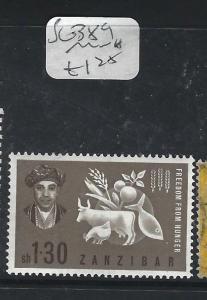 ZANZIBAR  (P2401B)   FFH  SG 389  MNH