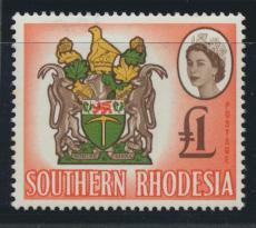 Southern Rhodesia  SG 105 SC# 108   MUH Coat Of Arms  - One Pound