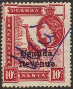 Uganda revenue 10c giraffe