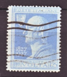 J22552 Jlstamps 1927 italy hv of set used #191 volta