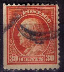 US Sc #516 USED ORG RED 30c Very Fine