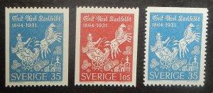 Sweden 640-42. 1964 Erik Axel Karlfeldt, poet, NH