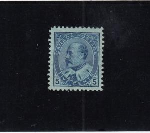 CANADA # 91 VF-MLH/MH? 5cts BLUE KEV11 CAT VALUE $400