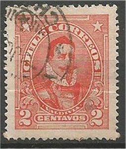 CHILE, 1911  used 2c, De Valdivia Scott 99