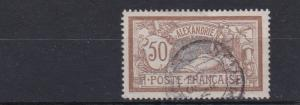 FRENCH COLONIES ALEXANDRA 1902 - 21   50C   BROWN & LAVENDER     USED
