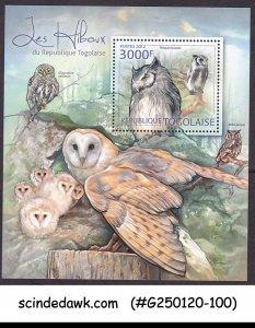 TOGO - 2012 BIRDS FAUNA OWLS - MIN. SHEET MNH