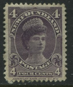 Newfoundland 1901 4 cents violet mint o.g. and VF