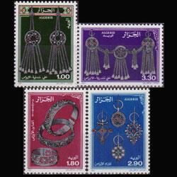 ALGERIA 1987 - Scott# 831-4 Aures Jewelry Set of 4 NH