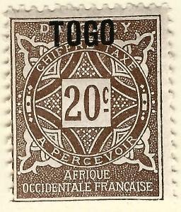 French Togo Post Due (Scott J4) F-VF Mint OG hr...Buy before prices go up again!