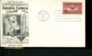 USA SC# 1002 American Chemical Society FDC