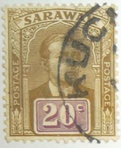 1918 SARAWAK 20C Scott #66 High Quality Used Free US Shipping