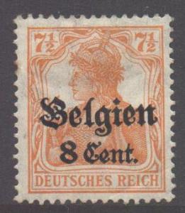 Germany Belgian Occupation SG13, 1916 Germania 8c on 7.1/2pf MH*