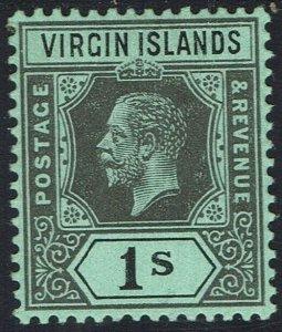 BRITISH VIRGIN ISLANDS 1913 KGV 1/-