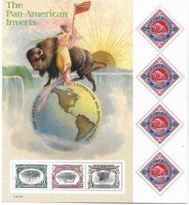 USA 3505 MNH SHEET THE PAN-AMERICAN INVERTS