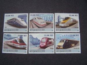 Mozambique 2009 MNH Trains