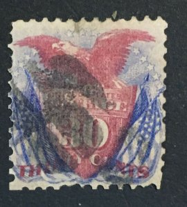 MOMEN: US STAMPS #121 USED LOT #43220