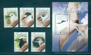 Norfolk Is. - Sc# 883-8. 2006 Birds.. MNH Set & Souv. Sheet. $13.50.