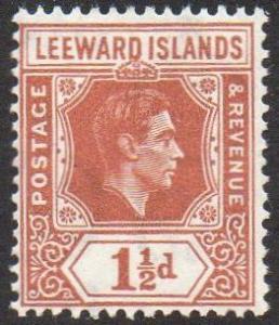 Leeward Islands 1938 1½d chestnut MH