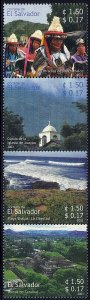 EL SALVADOR TOURISM, STRIP of 4v Sc 1593 MNH 2003