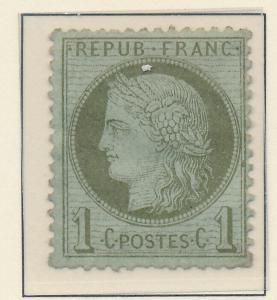 France Stamp Scott #50, Unused/Mint No Gum, Hinge Remnant - Free U.S. Shippin...