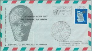 83116 - UNITED NATIONS - Postal History - SPECIAL FLIGHT:  Geniva - Venice 1970