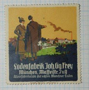 Loden Fabric Factory Frey Munchen German Brand Poster Stamp Ads