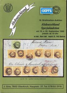 Gotz: Sale # 8  -  Altdeutschland Spezialauktion #18 , Ju...