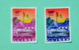 Guinea - 188-89, MNH Set. Flag Raising. SCV - $3.10