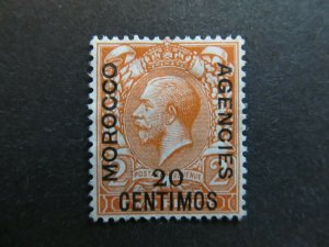 A4P9F5 Great Britain Offices in Morocco 1914-18 20c on 2p mint no gum